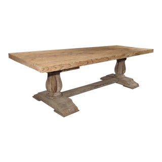 Large Rectangular French Farm Table in Oak and Pine, C. 1940s For Sale