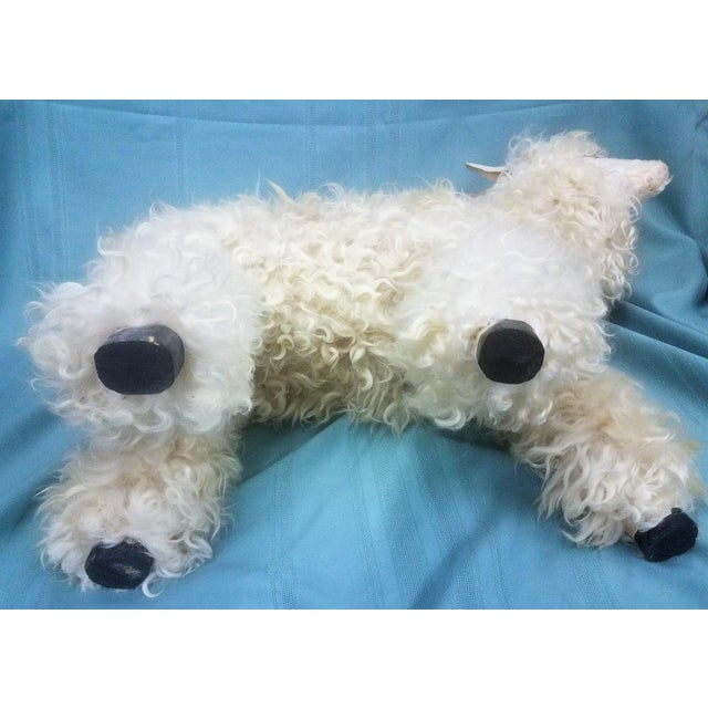 Wood Ray Growler White Lamb Sheep Figure For Sale - Image 7 of 12