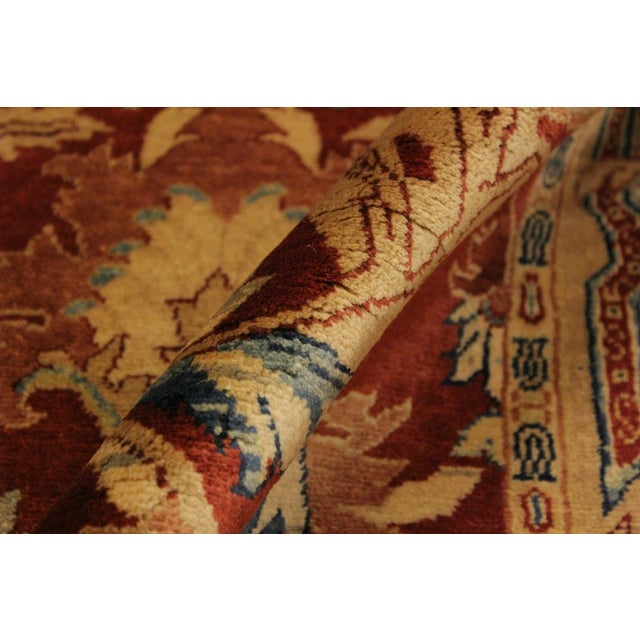 Istanbul Philomen Rust/Tan Turkish Hand-Knotted Rug -4'10 X 6'11 For Sale - Image 4 of 8