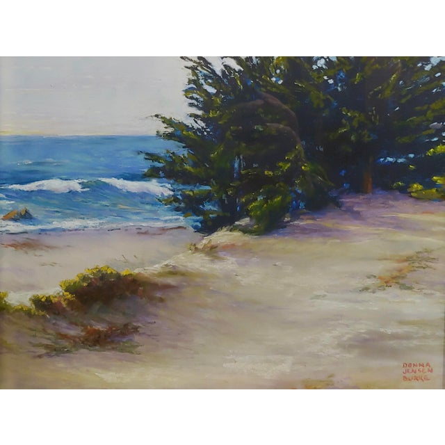 Donna Jensen Burke -Sandy Overlook at a Mendocino Beach-Painting For Sale - Image 4 of 8