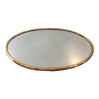 Brass Oval Wall Mirror
