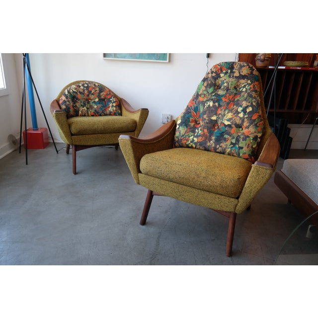 Adrian Pearsall His and Hers Lounge Chairs - Pair For Sale - Image 5 of 6