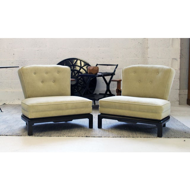 Pair of Michael Taylor for Baker Style Lounge Slipper Chairs For Sale - Image 10 of 10