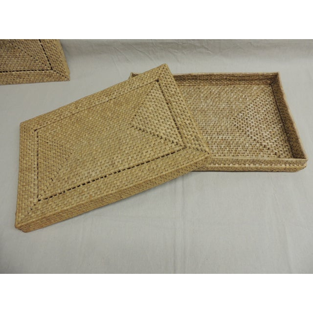 Vintage Seagrass Placemats - Set of 4 - Image 4 of 4