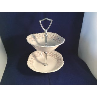 Ironstone Encore 2 Tier Cake Stand Preview
