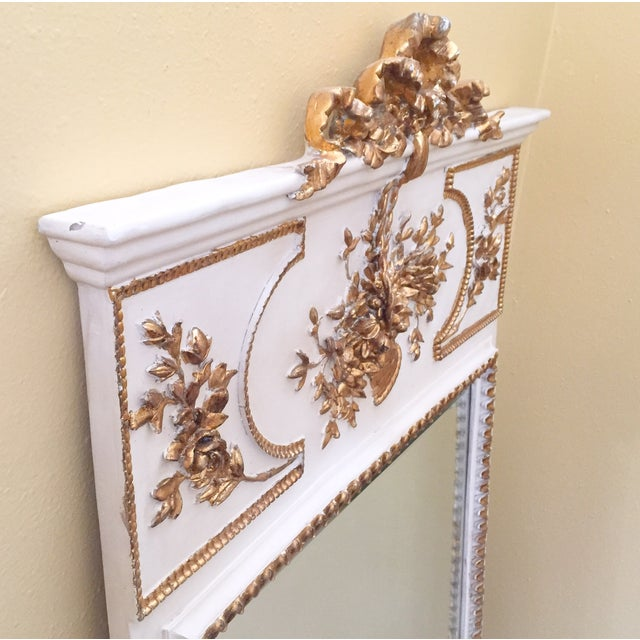 French White & Gilt Trumeau Mirror - Image 4 of 11