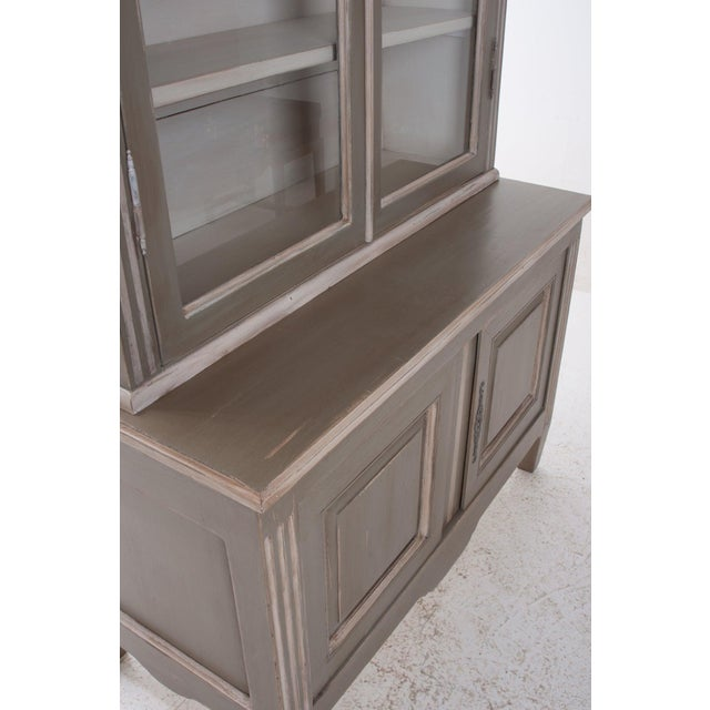 Wood French Buffet a Deux Corps, Bibliotheque For Sale - Image 7 of 10
