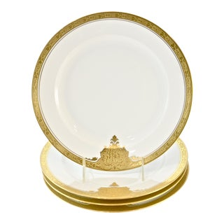 Bavarian Gold-Encrusted Porcelain Plates - Set of 4