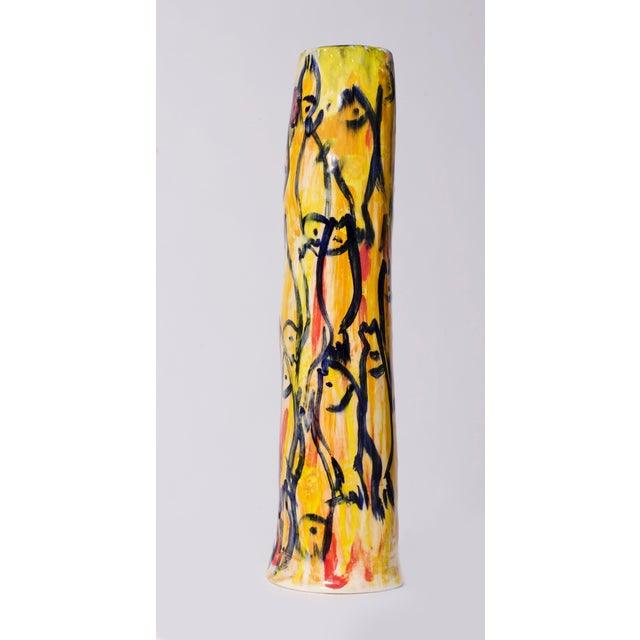 Yellow Pottery Fish Vase - Image 3 of 3
