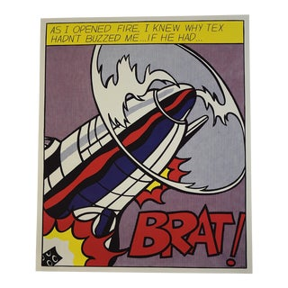 "Roy Lichtenstein Triptych ""As I Opened Fire"" 1964 For Sale"