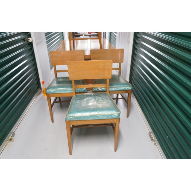 Blue 1950s Mid-Century Modern Morris of California Dining Set - 5 Pieces For Sale - Image 8 of 10