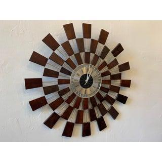 Mid-Century Sunburst Clock by Wingard Preview