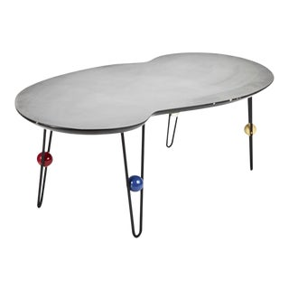 Asymmetrical Coffee Table on Hairpin Legs For Sale