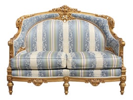 Image of Gold Leaf Loveseats