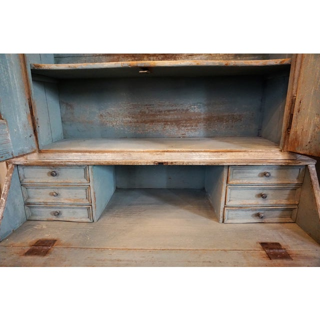 Wood Swedish Gustavian Painted Secretaire For Sale - Image 7 of 12