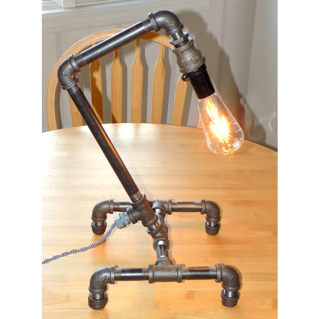 Industrial Hand-Crafted Industrial Table Light For Sale - Image 3 of 9