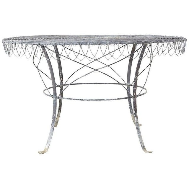 French Wrought Iron and Wire Garden Dining Table For Sale - Image 13 of 13