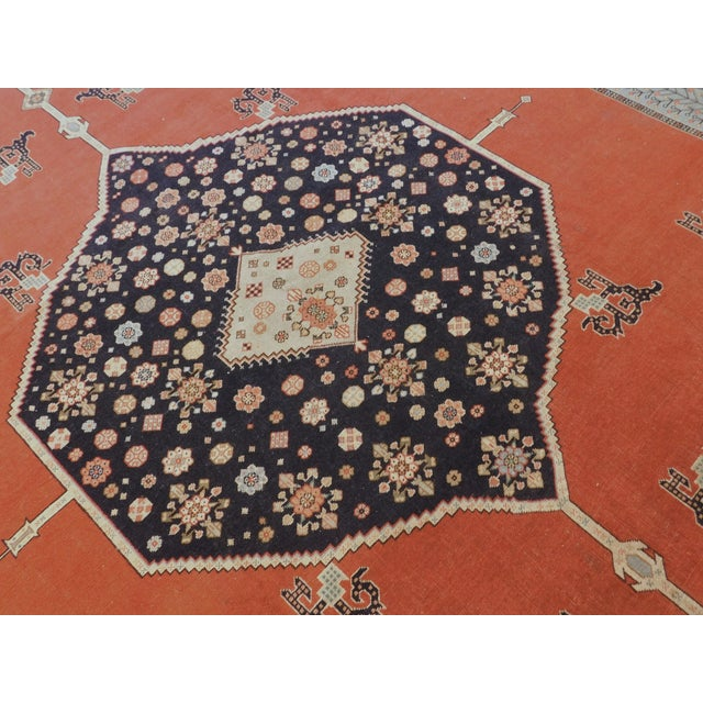 """Persian Hand-Knotted Turkish Serapi Rug - 8'7""""x 12' For Sale - Image 3 of 12"""