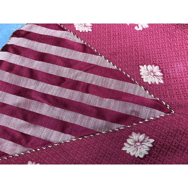 americana christmas tree skirt with tassels for sale image 3 of 7