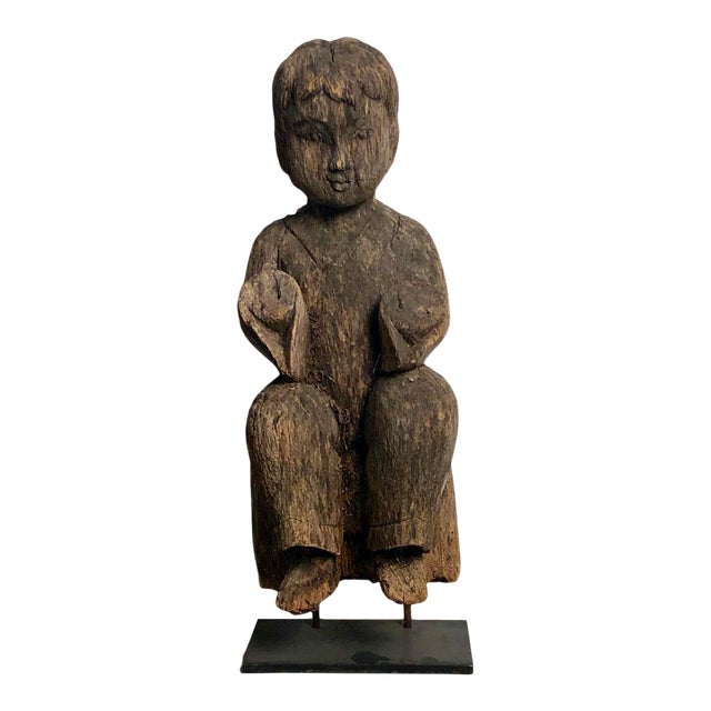 1900s Antique Southeast Asian Child Carving For Sale