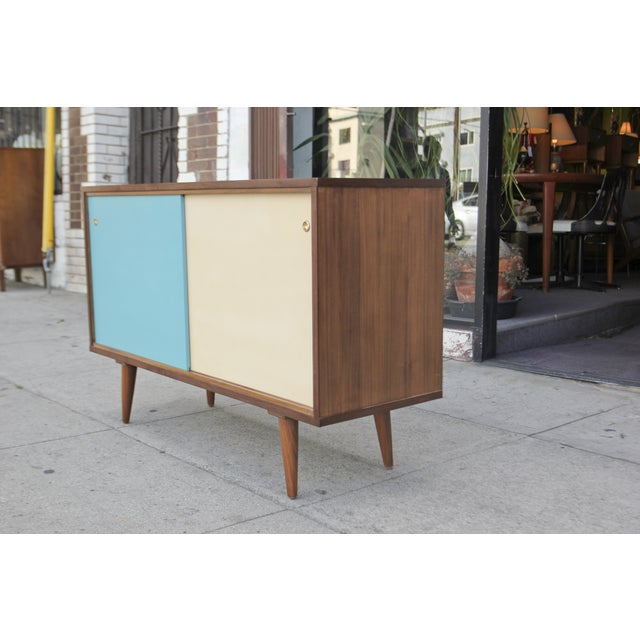 Mid-Century Style Two Door Credenza For Sale - Image 4 of 10