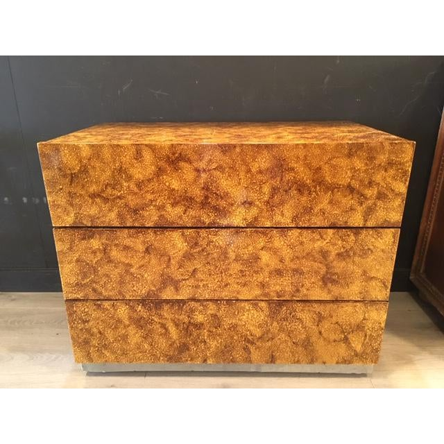 Original faux painted 3 drawer chest