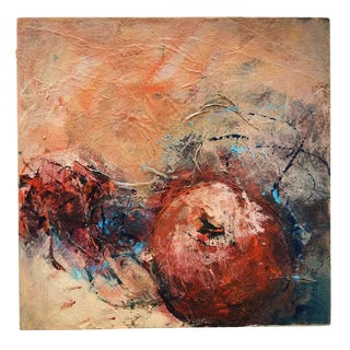 """Contemporary Abstract Acrylic Painting on Panel """"Still Life 1"""" by Mary Lou Siefker For Sale"""