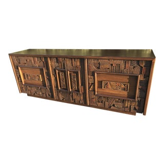 Mid Century Brutalist Lane Company Dresser For Sale