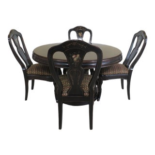 1990s Traditional Decorated 5 Piece Dinette Set For Sale