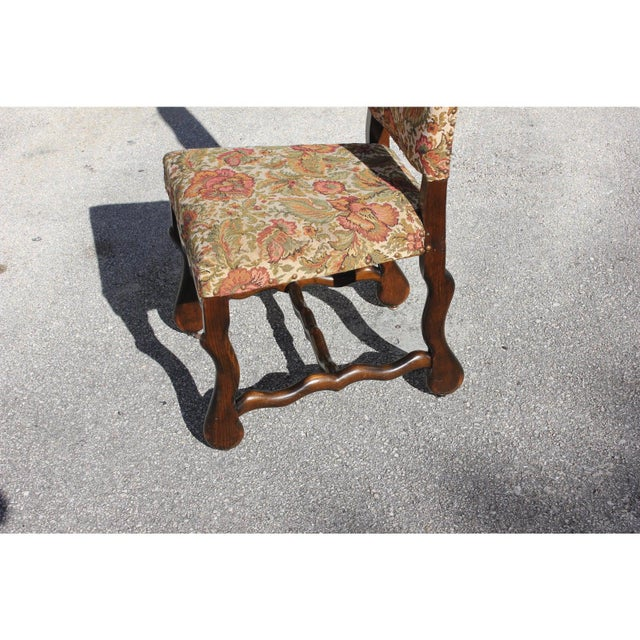 1900s Vintage French Louis XIII Style Os De Mouton Dining Chair For Sale - Image 12 of 13