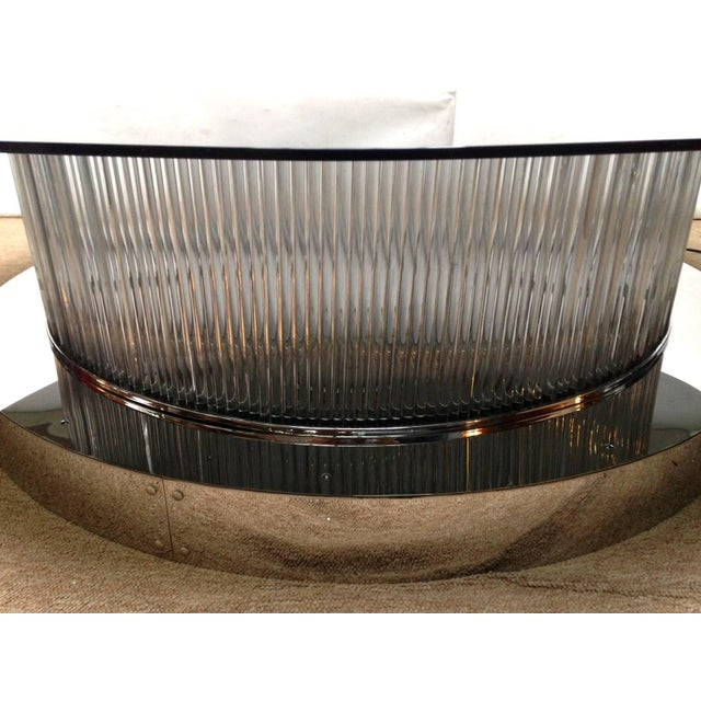Monumental Italian Crystal Bars Coffee Table For Sale In Palm Springs - Image 6 of 10