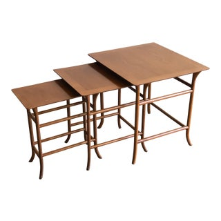 1950s Mid-Century Modern t.h. Robsjohn-Gibbings Nesting Tables - Set of 3 For Sale