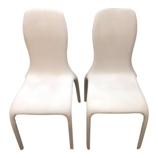 Italian Angelo Tomaiuolo for Tonin Casa Lisetta Leather Chairs - A Pair For Sale