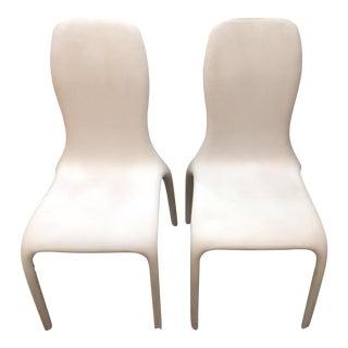 Italian Angelo Tomaiuolo for Tonin Casa Lisetta Leather Chairs - A Pair For Sale