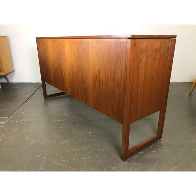 Nicely Designed Walnut Sideboard Cabinet by Jens Risom; 1960's. For Sale - Image 10 of 13