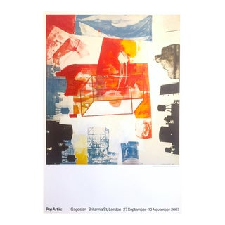 "Robert Rauschenberg Rare Lmtd Edtn Lithograph Print Gagosian Gallery Pop Art Exhibition Poster "" Transom "" 1963 For Sale"