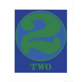 Robert Indiana, Two, 1997 Serigraph For Sale