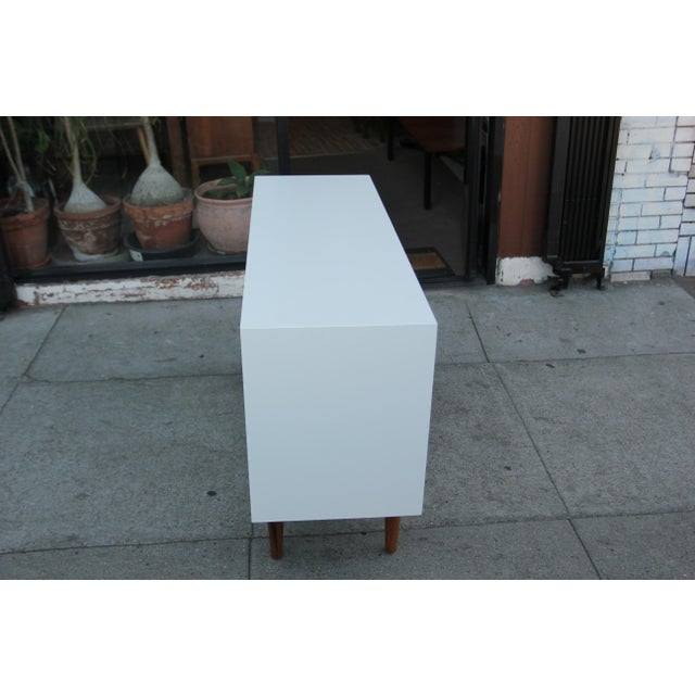 Eggshell While Lacquered Credenza For Sale - Image 8 of 13