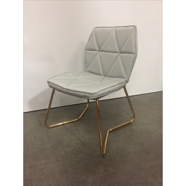 Modern Tally Gold Chrome Dining Chair For Sale - Image 3 of 5