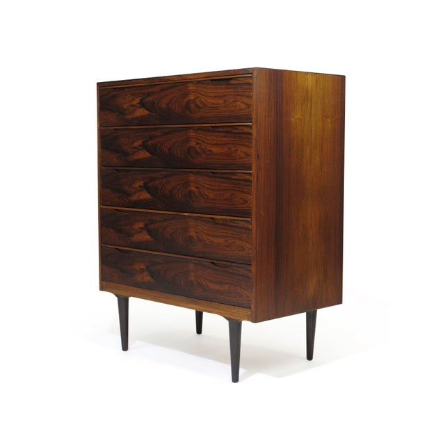 Mid-Century Modern Vintage Mid Century Danish Brazilian Rosewood Chest of Drawers For Sale - Image 3 of 12