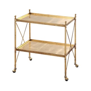 Gold Regency Serving Cart For Sale