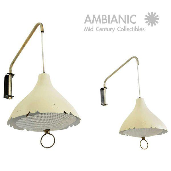 Mid-Century Modern Mid-Century Modern Pair of Wall Sconces After Lightolier For Sale - Image 3 of 11