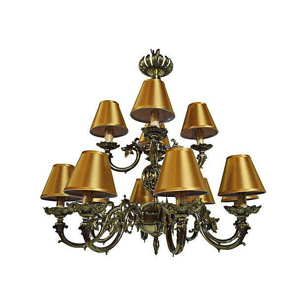 12 Arm Dutch Brass Chandelier - Image 2 of 9