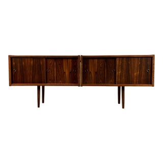 1950s Vintage Peter Sorenson Double Low Rosewood Credenza For Sale