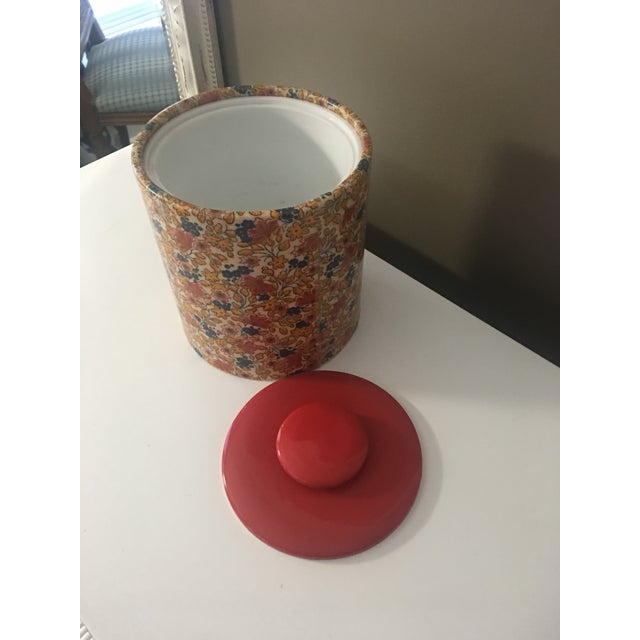 1970s Mid-Century Modern Flowered Ice Bucket For Sale - Image 5 of 6