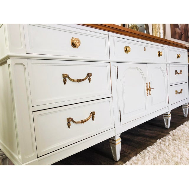 Beautiful vintage cashmere gray sideboard. All hardware is original.