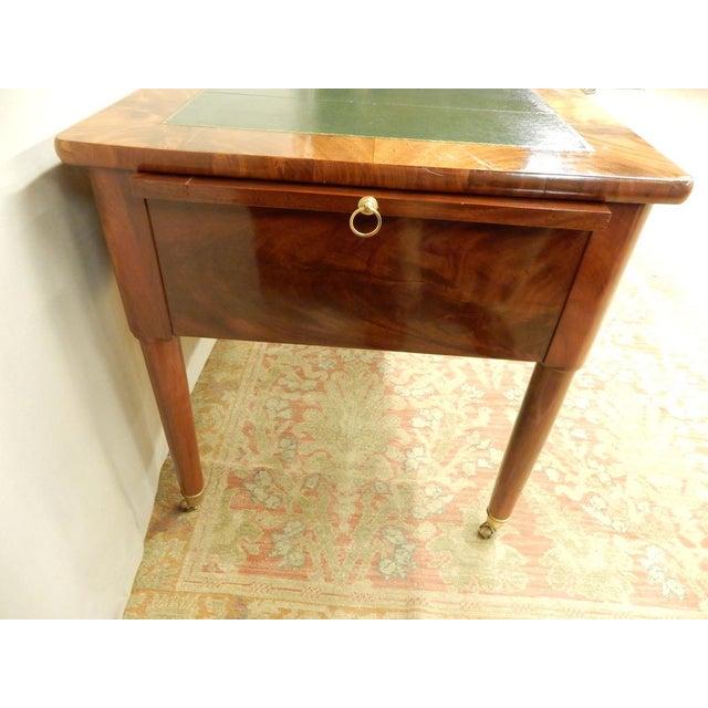 Elegant Louis XVI 19th Century Walnut Desk For Sale - Image 4 of 11