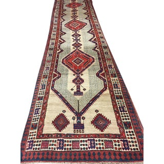 Vintage Persian Serab Hand Woven Runner 3'1 X 14'2 For Sale