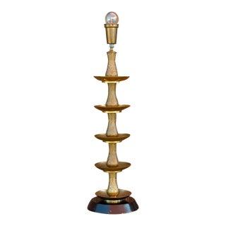Royal Kashmiri Engraved Brass Lamp For Sale