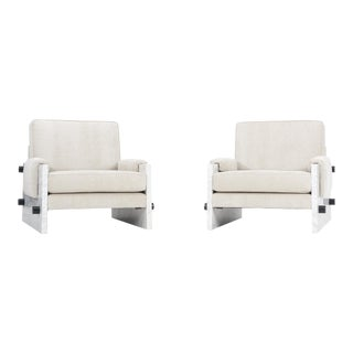 Pair of Marble Chairs in the Style of Ettore Sottsass